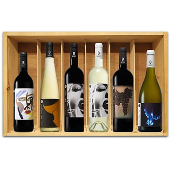 SIX BOTTLE WOODEN BOX Image