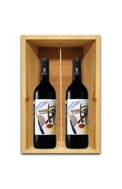 TWO BOTTLE WOODEN BOX Image